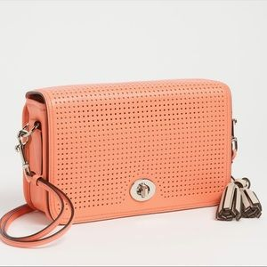 COACH Legacy 'Penelope' Perforated Leather Bag